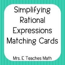 rational expressions partner worksheet stuff pinterest