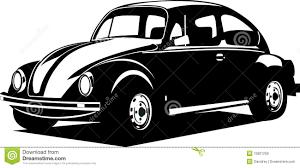 volkswagen logo black and white de zwart witte kever van volkswagen vector illustratie