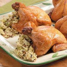 tender stuffed cornish hens recipe taste of home