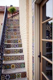 Mexican Tile Backsplash Kitchen Mix U0026 Match Talavera Tiles On A Set Out Outdoor Stairs Notice The