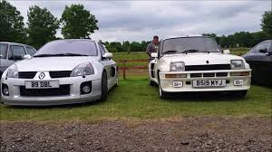 old renault renualt clio v6 vs old little car meet youtube