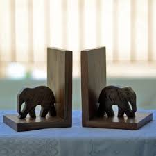 Book End Unravel India Wooden Elephant Book End