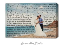 marriage prayers for couples prayer for a newly married on canvas custom canvas