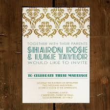 gatsby wedding invitations deco gatsby wedding invitation by feel wedding