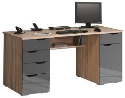 Tesco Computer Desk Maja Malborough Oak Grey Computer Desk
