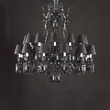 Black Chandelier Lamps Zenith Black Chandeliers By Baccarat Marymahoney Com