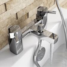 enki desire square design bath filler shower basin mixer bath tap