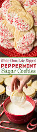white chocolate dipped peppermint sugar cookies perfectly chewy