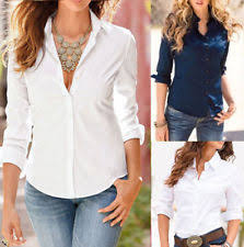 button blouses polyester button shirt tops blouses for ebay