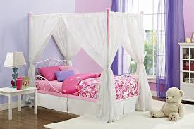 princess bed canopy for girls amazon com dhp canopy metal bed frame twin size pink kitchen