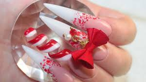 xl peppermint spiral acrylic nails youtube