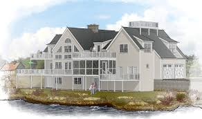waterfront home plans and timber frame house plans from davis frame