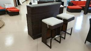 3 piece bar bar stool outdoor wicker patio furniture set u2013 san