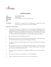 Security Front Desk Front Desk Job Description For Resume Free Resume Example And
