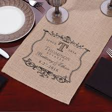 wedding reception table runners 84 inch personalized vineyard design burlap table runner