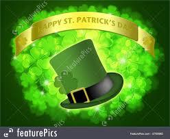st patrick u0027s day leprechaun hat banner shamrock illustration