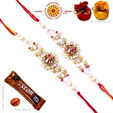 buy rakhi online rakhi set two rakhi set rakhis online br 225 dr