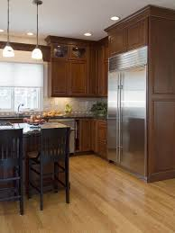 kitchen cabinet ideas with wood floors wood floor wood cabinets kitchen design ideas pictures