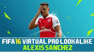 alexis sanchez youtube fifa 16 virtual pro lookalike tutorial alexis sanchez youtube