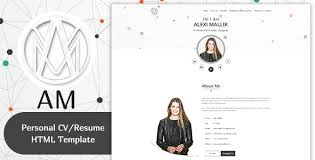am minimal resume cv template by themepoo themeforest