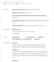 example of a simple resume u2013 inssite