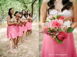 coral and gold bridesmaid dresses sequin pink bridesmaid costumes ideas weddceremony com