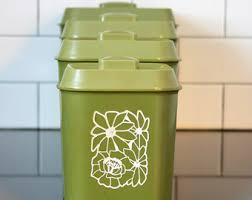 kitchen canisters green green canister set etsy