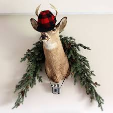Christmas Decor Deer Head by Plaid Christmas Decor Ideas For The Holidays House Of Hawthornes