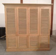 Louvered Cabinet Door Interior Design Solid Wood Louvered Cabinet Doors Design