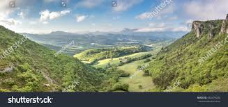 french countryside french countryside view over mountains trois stock photo 642479200