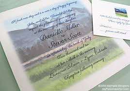 mountain wedding invitations mountain themed wedding invitations the wedding specialiststhe