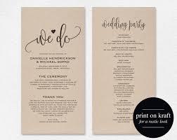 Wedding Programs Wedding Program Template Wedding Program Printable We Do