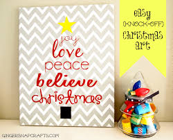 ginger snap crafts easy knock off christmas art tutorial