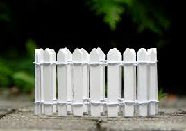 white picket fence 18 inch miniature supply for fairy garden