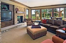 Family Room Carpeting Ideas Family Room Traditional With Recessed - Family room carpet