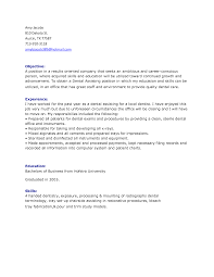 Resume For An Office Job by 41 Printable Dental Assistant Resumes For Job Applications