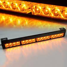 warning light bar amber 16 amber led traffic advisor strobe light bar kit xprite