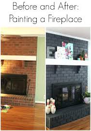 painting brick fireplace follow paint cleaning bricks inside ideas