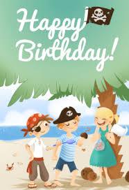 birthday kids pirate free printable birthday card greetings island