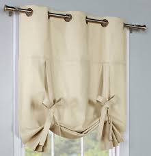 weathermate solid grommet top tab top and tie up curtains
