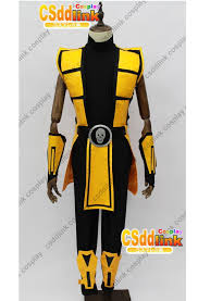 Mortal Kombat Scorpion Halloween Costume Mortal Kombat 3 Scorpion Cosplay Costume Men U0027s Costumes