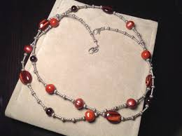 multi stone necklace images 36 quot caroyln pollack relios sterling red tigers eye multi stone JPG