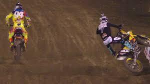 ama motocross 2014 james stewart wrecks hard at anaheim 1 2014 supercross youtube