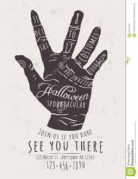 zombie hand halloween invitation stock vector image 59415259