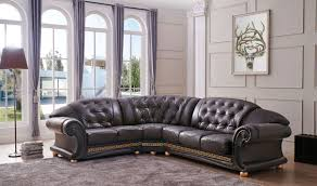 Left Facing Sectional Sofa Versa Leather Sectional Sofa In Brown Free Shipping Get Furniture