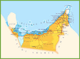 map of oman and uae road map of united arab emirates