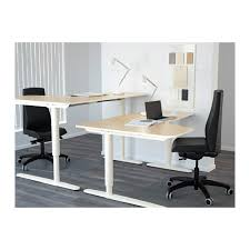 Veneer Desk Bekant Corner Desk Right Sit Stand Birch Veneer White Ikea