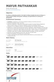 1 Year Experience Resume Format For Manual Testing Qa Engineer Resume Samples Visualcv Resume Samples Database