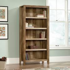 Leaning Shelf Bookcase Dakota Pass 5 Shelf Bookcase 418546 Sauder