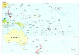 Map Of Oceania Political Map Of The Australia And Oceania Australia And Oceania